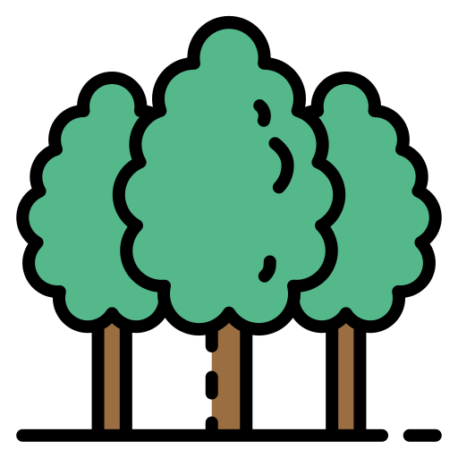forest trees icon trimmed